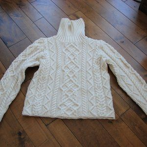 Paul James Wool Cable Chunky Knit Sweater